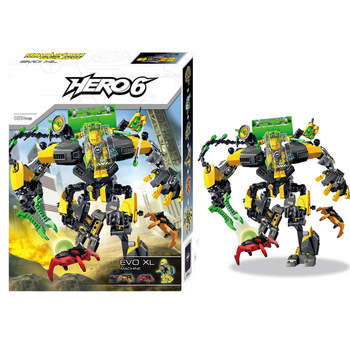 цена на Star Warrior Soldiers Bionicle Hero Factory EVO XL Machine Robot Model Building Block Compatible With  Enlighten Toys