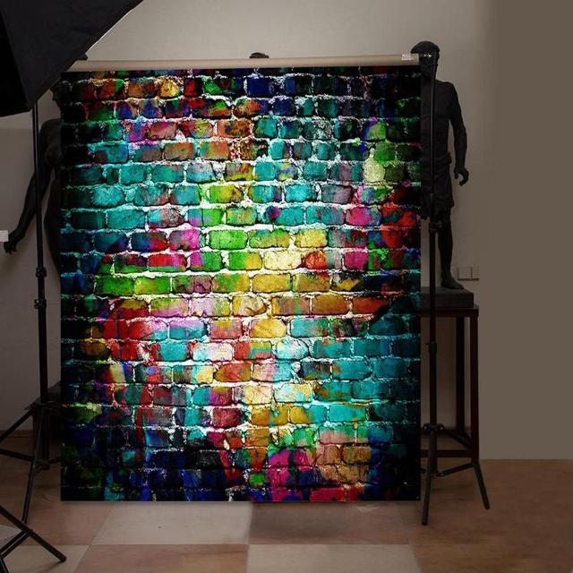 5 Sizes Brick Texture Photo Background Cloth Plate Photo Backdrop Studio Photography Props Screen Home Decor Studio Accessories