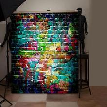 5 boyutları tuğla doku fotoğraf arka plan bez plaka fotoğraf arka fonu stüdyo fotoğrafçılığı sahne ekran ev dekorasyonu stüdyo aksesuarları