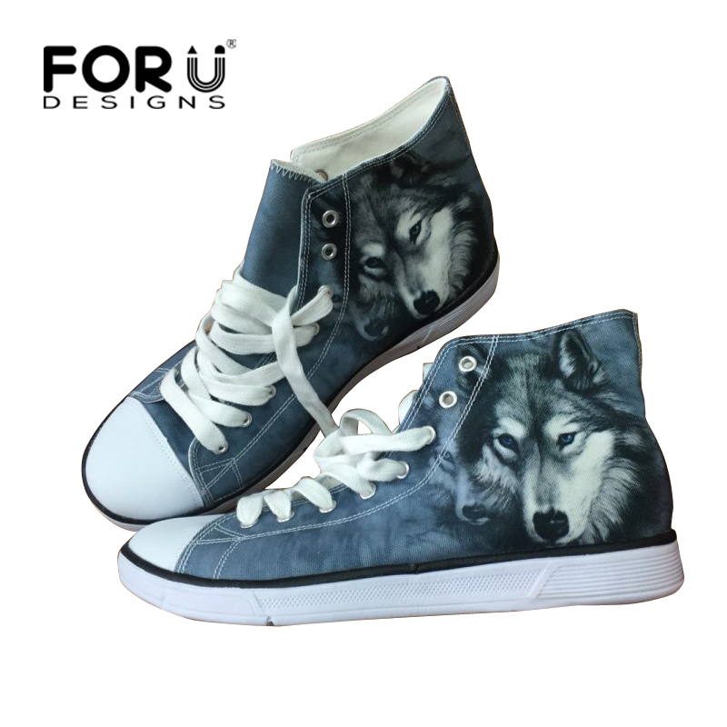 FORUDESIGNS Black Women Shoes Cute Animal Dog Cat Printing Canvas Shoes for Women High Top Ladies Vulcanization Walking Shoes e lov women casual walking shoes graffiti aries horoscope canvas shoe low top flat oxford shoes for couples lovers