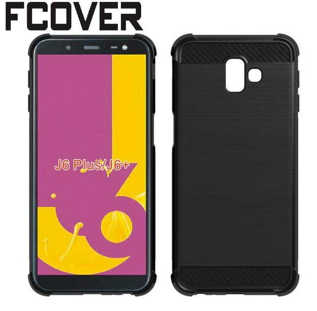 best sneakers dd000 fe40e US $2.8 |For Samsung Galaxy J6+ J6 Plus Case+Tempered Glass Carbon Fiber  Rubber Soft Gel TPU Skin Back Silicon Cover-in Phone Pouch from Cellphones  & ...