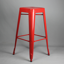 Free Shipping 75cm Powder Coated Stool Red