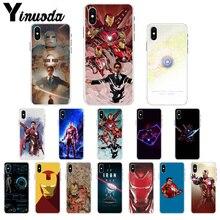 Yinuoda Marvel Iron Man Customer High Quality Phone Case for Apple iPhone 7 8 6 6S Plus X XS MAX 5 5S SE XR Mobile Cases yinuoda demi lovato customer high quality phone case for apple iphone 8 7 6 6s plus x xs max 5 5s se xr mobile cover
