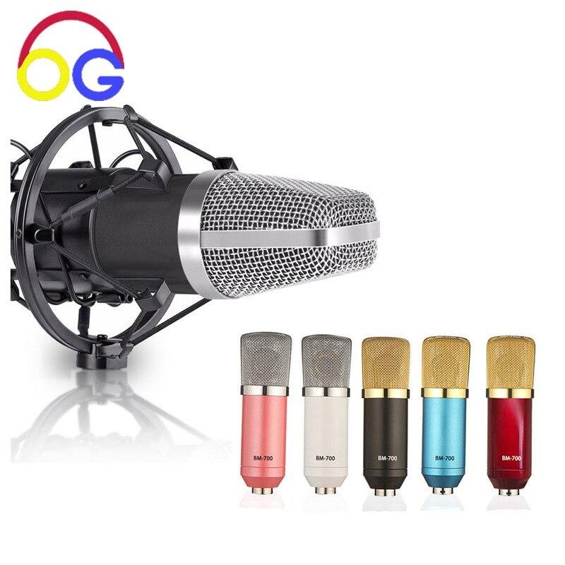 OGV BM700 kondensaatormikrofon Pro audio stuudio vokaalmikrofon KTV - Kaasaskantav audio ja video - Foto 1