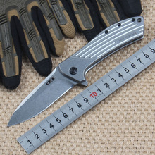 ZT0801 folding brand knife 60HRC D2 blade All-Steel handle outdoor camping survival knife tactical pocket EDC ganzo tool knife