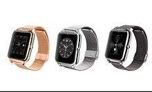 Новые bluetooth smart watch z50 с металлическим каркасом и стали ремень sim-карты tf mp3 mp4 совместимы с apple android телефоны