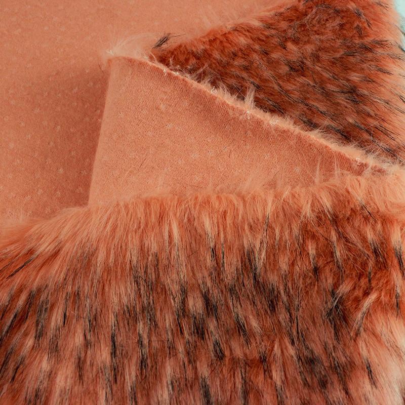 Faux fur meter wasbeer haar thuis tectile kleding tassen schoenen en hoeden pluche bekleding pluizige warmer dikke stof - 5