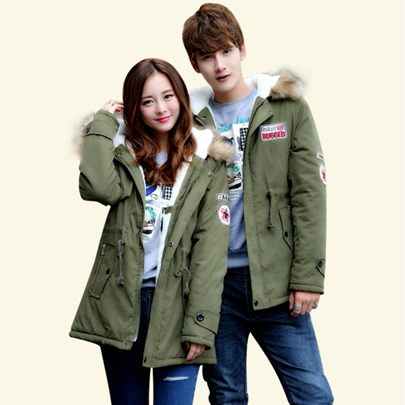 Women s jacket Long Cotton font b Parka b font Winter Jacket Women font b Men