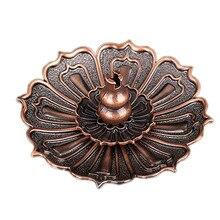 Floral Copper Incense Burner Holder