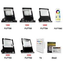 Miboxer FUTT02/ FUTT03/ FUTT04 /FUTT05/FUTT06 10W/20W/30W/50W RGB+CCT Outdoor LED Flood light IP65  Garden Light FUT092/T4