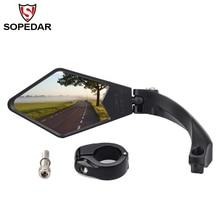 Mountain Bicycle Rear Mirror MTB Bike Handlebar Back Eyes Mirrors Rotation Rearview Flexible Safety Blind Spot