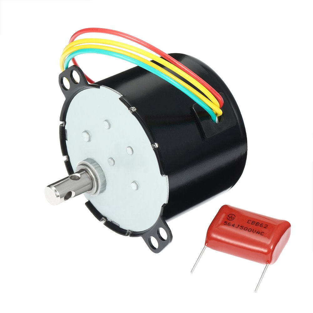 uxcell AC <font><b>110V</b></font> 50Hz 6W 80RPM Synchronous <font><b>Motor</b></font> Black Output Speed Reduction Geared Box AC <font><b>Motor</b></font> Accessories Home Improvement image
