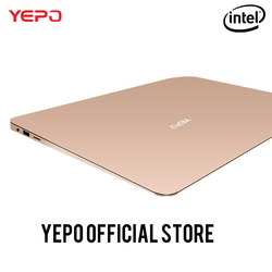 YEPO 737A laptop Apollo 13.3 inch Laptop Intel Celeron N3450 Notebook gold/grey colour 6GB RAM 64GB eMMC or 128GB SSD 192GB SSD