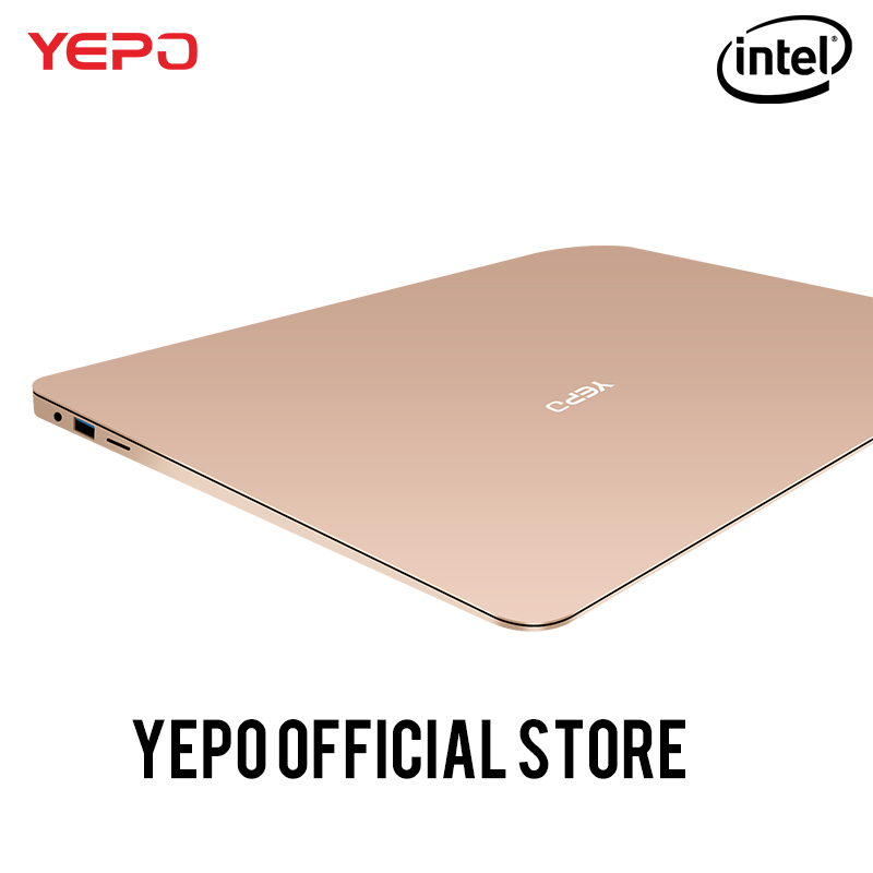 YEPO 737A laptop Apollo 13.3 inch Laptop Intel Celeron N3450 Notebook gold/grey colour 6GB RAM 64GB eMMC or 128GB SSD 192GB SSD ...