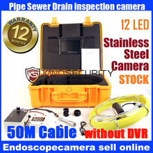 50M 7″ LCD Video Inspection Camera Borescope Endoscope Snake Pipe camera system