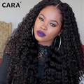 Pre Plucked Lace Front Human Hair Wigs Malaysian Deep Kinky Curly 7A 180% Density Full Lace Human Hair Wigs For Black Woman