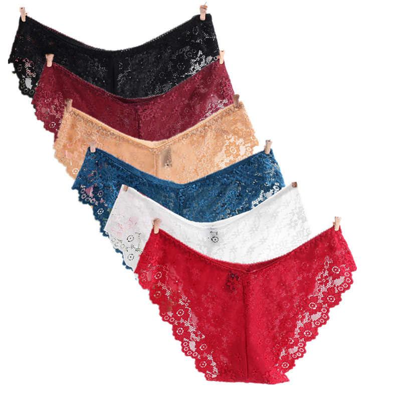 Трусы для Для женщин пикантные низкая талия полный шнурок Для женщин нижнее белье сексуальные трусики полые брюки Симпатичные Твердые белье мужское нижнее белье