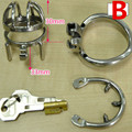 Chastity Device Cock Cage with Metal Anti-drop Ring Stainless Steel Chastity Cage Anti-drop Ring Cockring BDSM Toy for Men G199