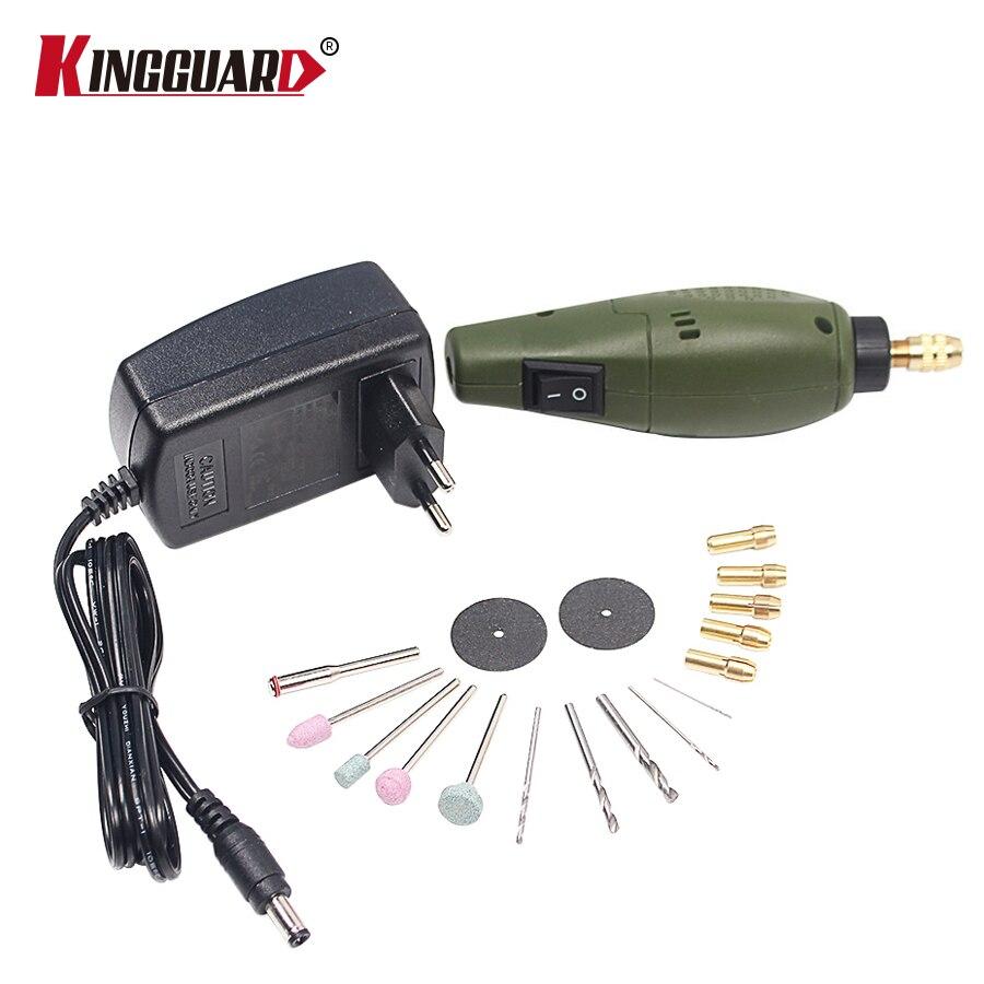 Kingguard estilo dremel mini Taladros eléctricos + molienda Accesorios set multifunción máquina de grabado Kit de herramienta eléctrica