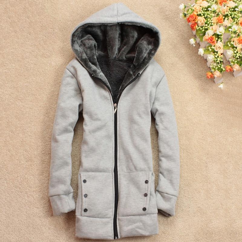 Autumn Winter Women   Basic     Jacket   Coat Female Slim Hooded Brand Cotton Blend Coats Women Cardigan Outerwear Coats