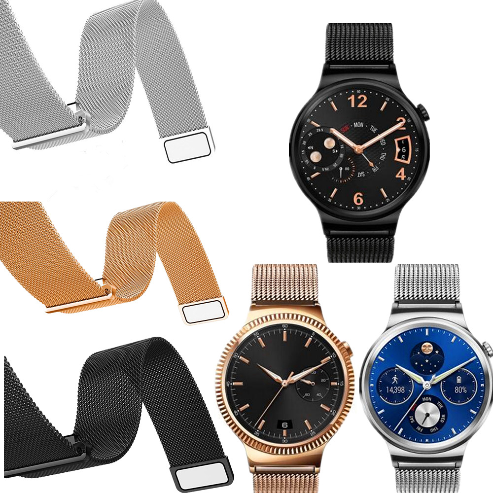 New Milanese Magnetic Loop Stainless Steel Bracelet Watch Bands Strap for Huawei watch crested milanese loop strap metal frame for fitbit blaze stainless steel watch band magnetic lock bracelet wristwatch bracelet
