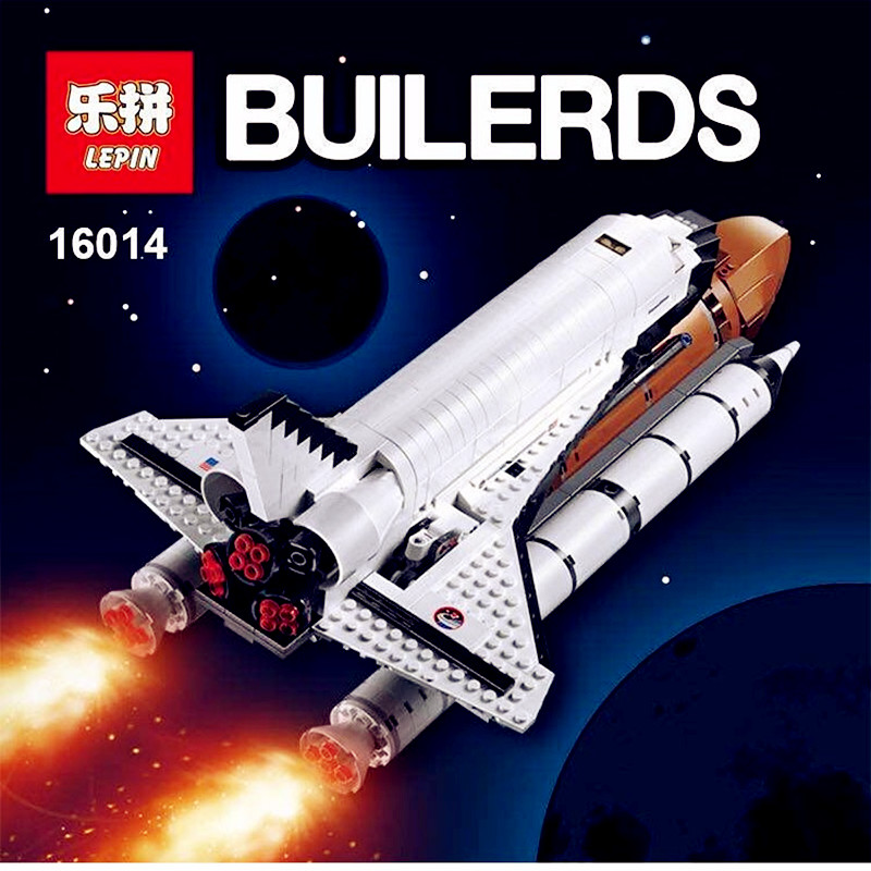 IN STOCK New LEPIN 16014 1230Pcs Space Shuttle Expedition Model Building Kits Mini Blocks Bricks Compatible Children Toy 10231 lepin 16014 1230pcs space shuttle expedition model building kits set blocks bricks compatible with lego gift kid children toy