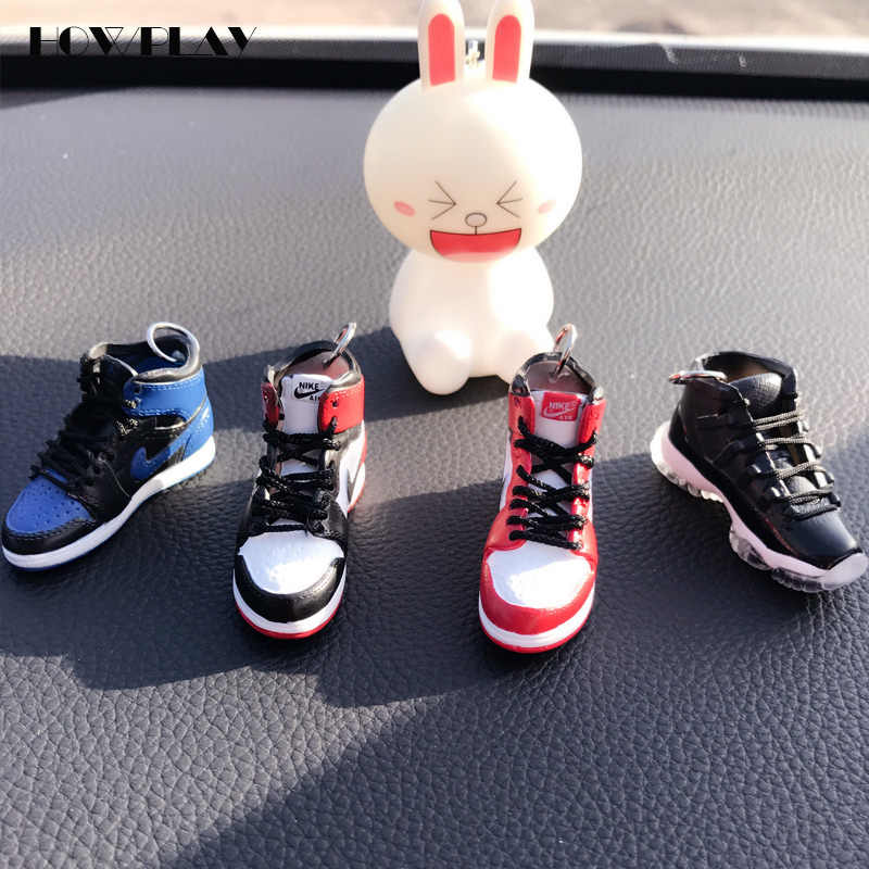 buy popular 11435 c0680 ... HowPlay AJ1 Model Keychain Backpack Pendant Creative Gift Collection  Crafts Doll accessories for Air Jordan Basketball ...