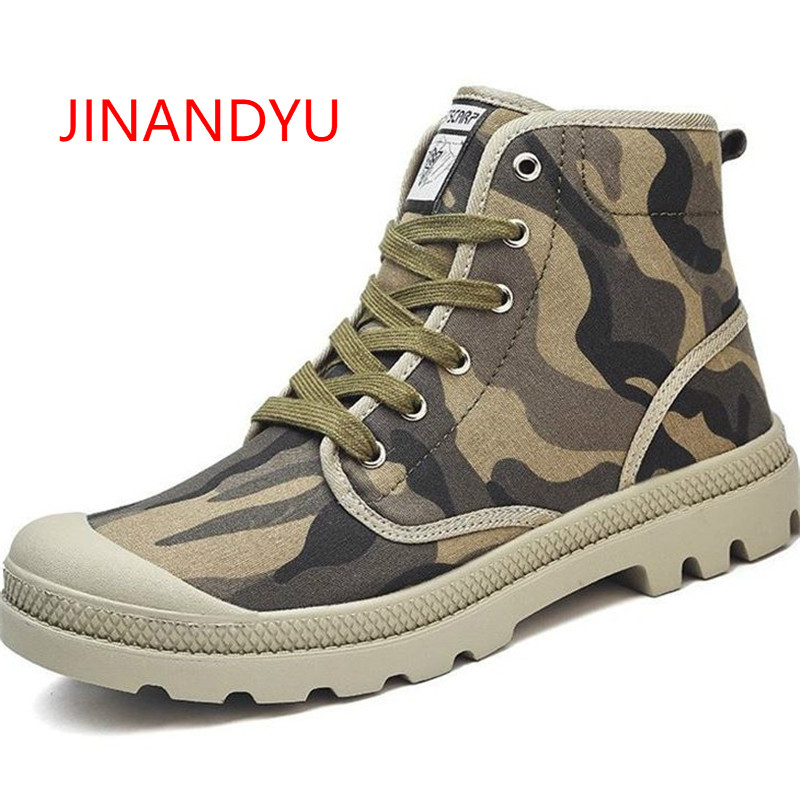 2018 Military Camouflage Boots Men Ankle Canvas Shoes Autumn Spring Combat Boots Unisex High Top Work Shoes Men Antiskid Shoes2018 Military Camouflage Boots Men Ankle Canvas Shoes Autumn Spring Combat Boots Unisex High Top Work Shoes Men Antiskid Shoes