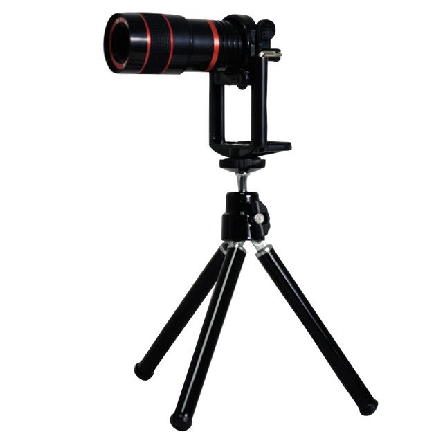 Gran angular/ojo de pez/2x lente teléfono 8x zoom lente trípode lente de la cámara kit de viaje y de la carpeta para iphone 5 5s freeship cl-23-5