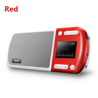 S168 Portable Rechargeable Battery Mini FM Radio Big Screen MP3 Player Speaker Outdoor Subwoofer Mini Radios FM Support TF Card