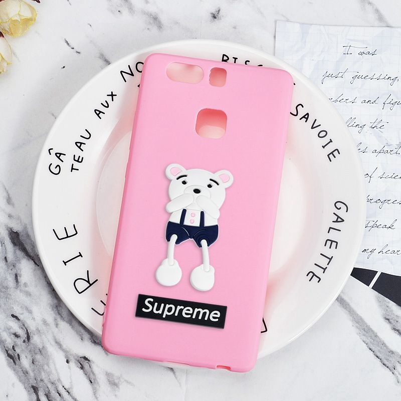 Silicone Case for OnePlus 5 5T Cartoon Bear Cover One Plus 5 T Protective Phone Back Cases Soft TPU Candy Girly Fitted Shell