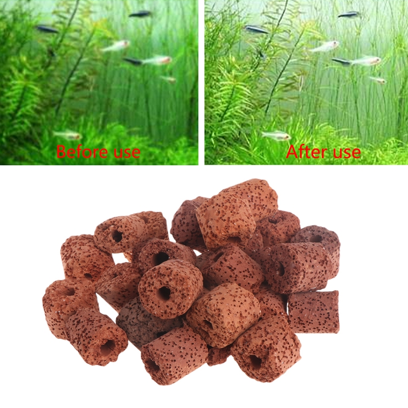 New Aquarium Ceramic Rings Biological Fish Tank Filter Bacteria Media Canister Pond