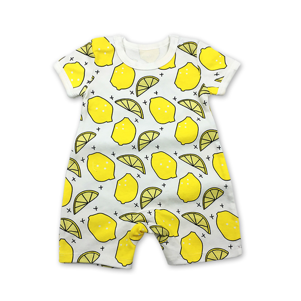 Newborn Rompers Babies Overalls Children Baby Clothes Romper Summer Short sleeve cotton print Infant Clothing 1pcs 6 24months in Rompers from Mother Kids