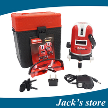 Freeshipping 5 lines 6 points laser level 360 rotary cross laser line leveling with outdoor model