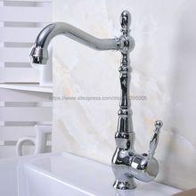 Polished Chrome Kitchen Bathroom Faucet Vessel Sink Basin Swivel Spout Cold and Hot Mixer Water Bnf931 цена в Москве и Питере