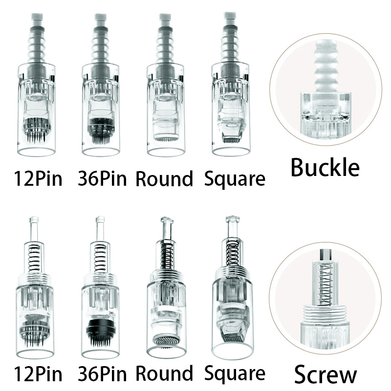 100pcs <font><b>12</b></font> 36 pin <font><b>3D</b></font> Micro Nano needle bb cream Screw buckle tattoo needle Cartridge Microneedle for dr pen BB glow cream machine image
