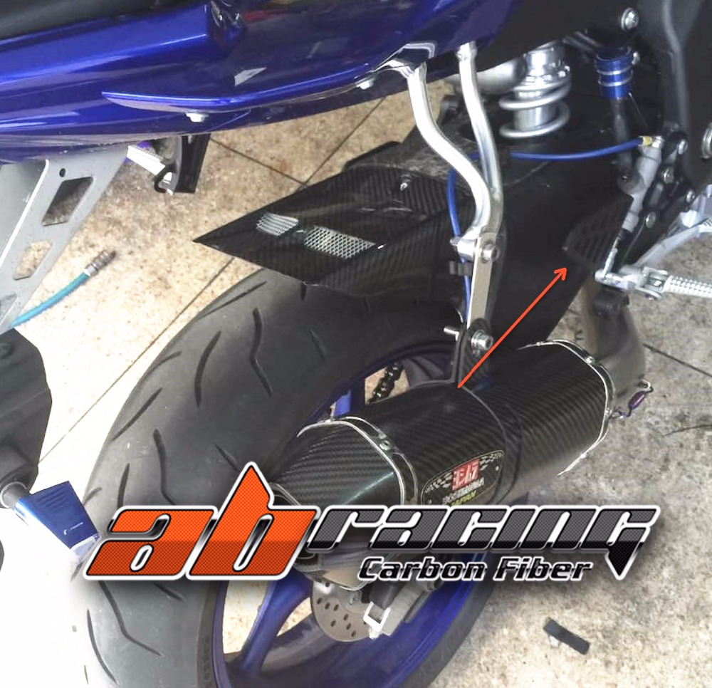 Rear Fender Tire Fender Mudguard For Yamaha YZF R6 2017 Full Carbon Fiber 100% Twill fender champion 100
