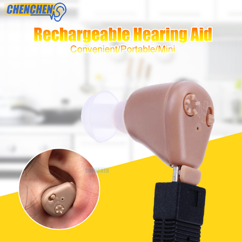 Cheap Hearing Aid Rechargeable In-ear Ear Sound Amplifier Hearing aids for Hearing Loss Elderly Deaf Ear Care s 101 bluetooth hearing aid rechargeable elderly binaural ear sound amplifier hearing aids deaf ear care tool devices freeship