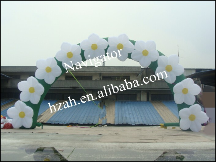 2017 Hot Sale Inflatable Flower Arch for Wedding Stage Decor monkey foil balloon auto seal reuse party wedding decor inflatable gift for children