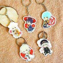 5pcs/set Anime Keychain Touken Ranbu Online Tokyo Scene Mikazuki Fox Ball Ichigo Hitofuri Portachiavi Keyrings Pendant