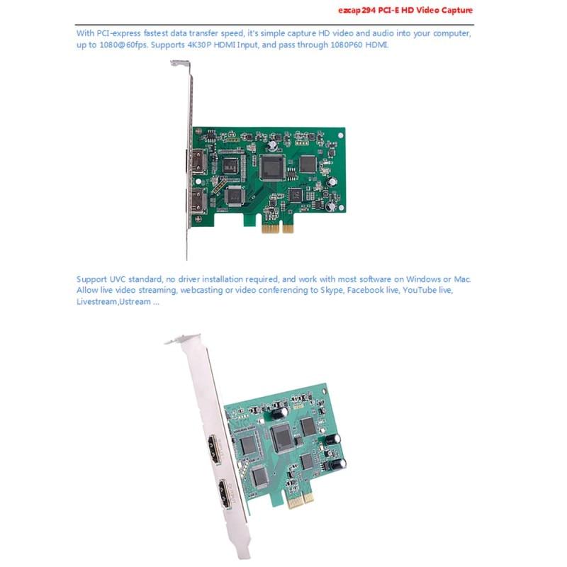Ezcap294 Game Capture HDMI naar USB3.0 Video Record voor PS4 Xbox Een NS Schakelaar - 4