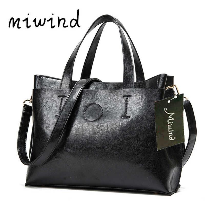 2018 женские сумки через плечо большая распродажа брендовая кожаная черная дизайнерская женская сумка Bolsas
