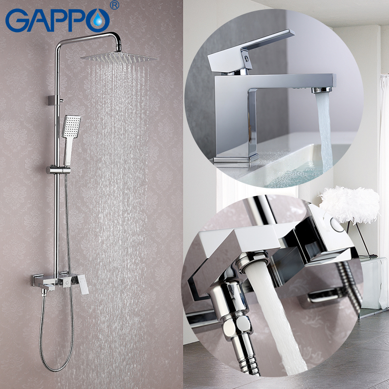 GAPPO shower faucet set Bath Shower tap shower head wall mixer tap Sanitary Ware Suite