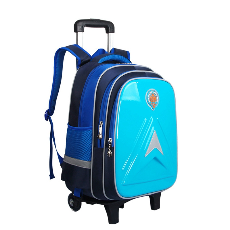 School Bags for Children Removable Children School Bags with Wheels Kids Boys Girls Trolley Schoolbags Children Wheeled Backpack ...