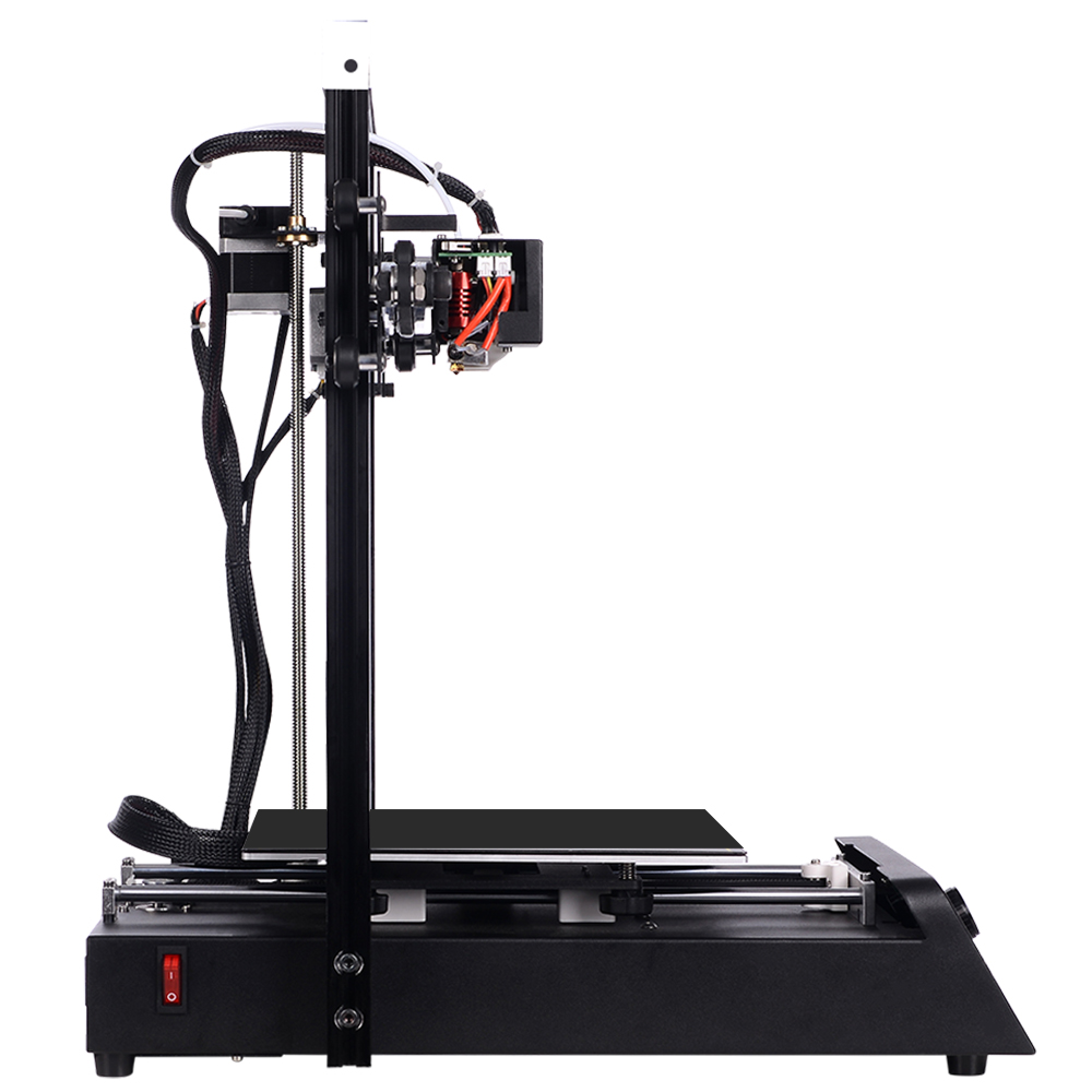 JGAURORA Magic 3D impresora de una sola boquilla LCD pantalla rota material de detección base de metal Semi DIY diseño rodamiento de bolas - 5