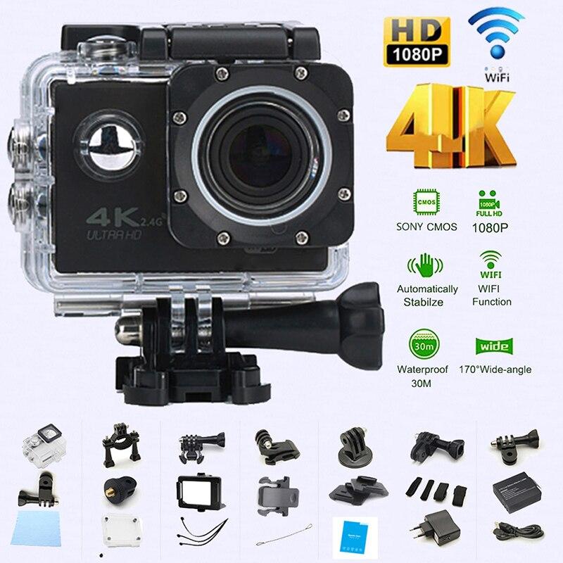 WIFI Wasserdichte Action Kamera Radfahren 4 K kamera Ultra Tauchen 60PFS kamera Helm fahrrad Cam unterwasser Sport 1080 P Kamera
