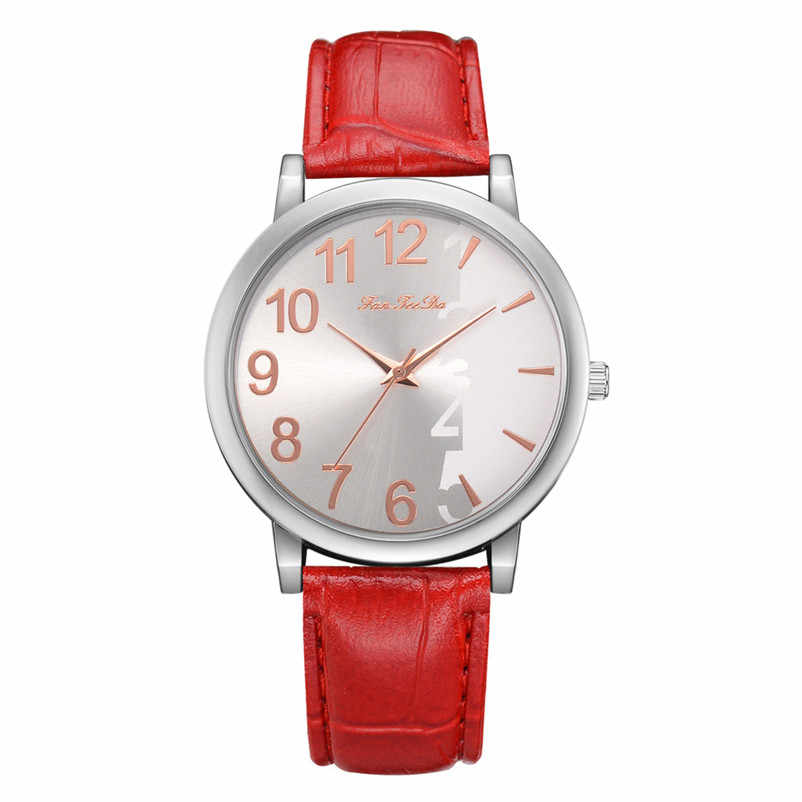 2019 haute qualité femmes montre décontractée à la mode de luxe robe en cuir bandes analogique Quartz montre-bracelet horloge relogio feminino Y12