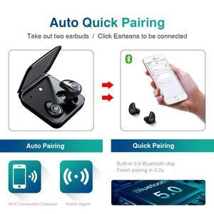 Image 2 - TWS i7 Blutooth のイヤホン IPX5 防水スポーツワイヤレスイヤフォン 3D ステレオサウンドワイヤレスヘッドフォンとの電話のため充電ボックス