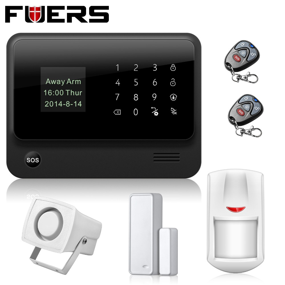 New Security WIFI GSM Alarm Systems IOS Android APP 433MHz Wireless House Security Alarm System with PIR motion detector