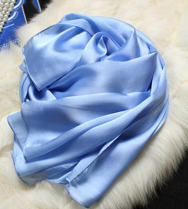Sciarpa di seta Delle Donne 100% Naturale di Seta Avvolge Scialli e Sciarpe 180*90cm Hijab Solider Colori Beach Cover up